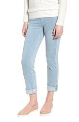 Lysse Boyfriend High Rise Denim Leggings Cashmere Blue