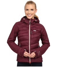Outdoor Research Diode Hooded Jacket Pinot Women's Coat Red