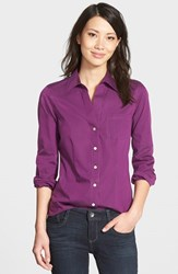 Petite Women's Foxcroft 'Christine' No Iron Cotton Shirt