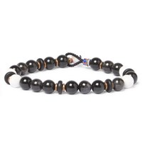 Mikia Magnesite Beaded Bracelet Black