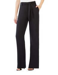 Bcbgmaxazria Chrisden Belted Wide Leg Pants Black