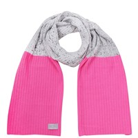 Orwell Austen Cashmere Speckled Grey And Pink Scarf Gold Grey Pink