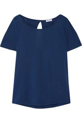 Splendid Very Light Supima Cotton And Micro Modal Blend Jersey T Shirt Storm Blue