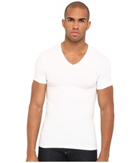Emporio Armani Stretch Cotton V Neck Tee White Men's Underwear