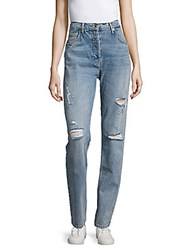 Sandro High Waist Straight Leg Jeans Stone Wash