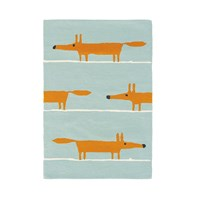 Scion Mr Fox Rug Aqua 90X150cm