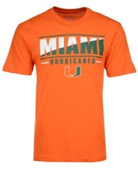Colosseum Men's Miami Hurricanes Two Face T Shirt Orange