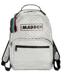 Steve Madden Austin Quilted Backpack Silver