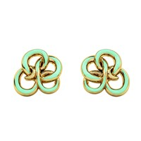 1986 Wiggle Wiggle Memory Knot Stud Baby Green And Gold Gold Green