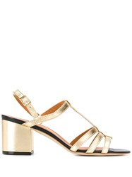 Via Roma 15 Strappy Sandals Gold