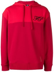 Fred Perry Raf Simons X Embroidered Logo Hoodie