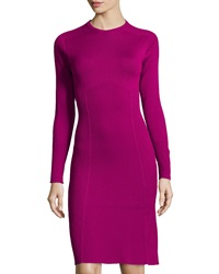 Philosophy Di Alberta Ferretti Fit And Flare Knit Wool Dress Magenta