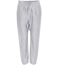 Lemlem Mbali Harem Cotton And Silk Trousers Grey