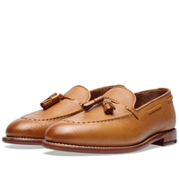 Grenson Scott Tassle Loafer Tan Grain Leather