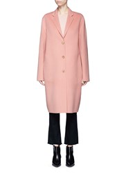 Acne Studios 'Avalon Double' Wool Cashmere Long Coat Pink