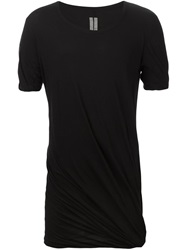 Rick Owens Draped T Shirt Black