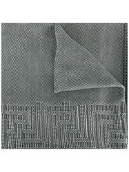 Versace Greek Key Knitted Scarf Grey