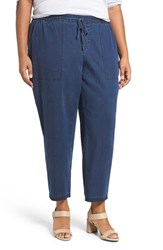 Eileen Fisher Plus Size Women's Tencel Lyocell And Organic Cotton Denim Ankle Pants