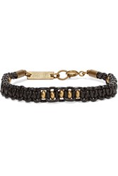 Isabel Marant Beaded Braided Leather Bracelet Black