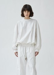 Y 3 Unisex Woven Lux Track Top Core White