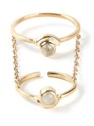 Pamela Love 'Gravitation' Chain Ring Metallic