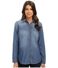 Mavi Jeans Juliet Shirt Medium Blue Women's Long Sleeve Button Up