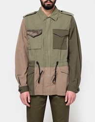 3.1 Phillip Lim Mixed Canvas Patchwork Field Jacket Army