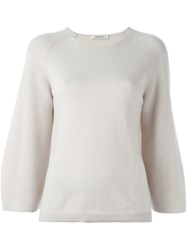 Dorothee Schumacher Bell Sleeve Sweater Nude And Neutrals