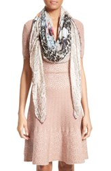 Yigal Azrouel Women's Floral Cheetah Modal And Cashmere Scarf Sand Multi