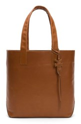 Frye Carson Leather Tote Brown Cognac