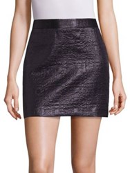 Milly Mod Metallic Jacquard Skirt Black