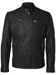 Selected Homme New Tylor Leather Jacket Black