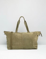 Asos Suede Croc Holdall Khaki Green