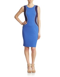 Nydj Contrast Panel Sheath Dress Ultramarine