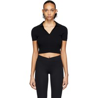 Live The Process Black Seamless Crop Polo