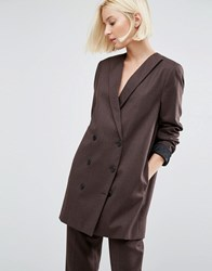 Selected Valina Double Breasted Suit Jacket Webseller Brown
