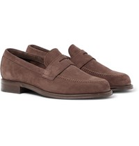 Paul Smith Lowry Suede Penny Loafers Brown