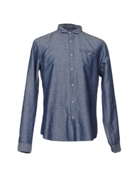 Individual Denim Shirts Slate Blue