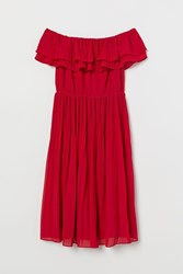 Handm H M Pleated Dress Red