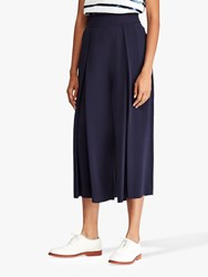 Ralph Lauren Polo Pleated Wide Leg Trousers Royal Navy