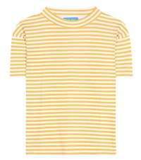 M.I.H Jeans Striped Cotton T Shirt Yellow