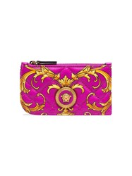 Versace Icon Baroque Quilted Leather Card Holder 60