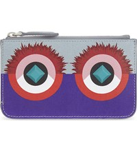 Fendi Monster Coin Pouch Grey Purple