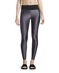Koral Activewear Liquid Cropped Sport Leggings Dusty Plum Black