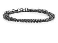 Loren Stewart Sterling Silver Mixed Chain Wrap Bracelet