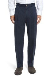 Bills Khakis Men's Big And Tall Classic Fit Pleat Front Chamois Cloth Pants Navy