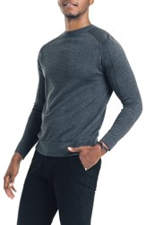 Good Man Brand Modern Slim Fit Merino Wool Sweater Charcoal
