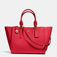 Coach Crosby Carryall In Smooth Leather Light Gold Red