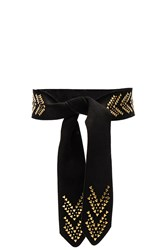 Hoss Intropia Embellished Belt Black