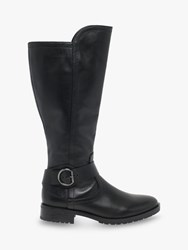 Gabor Wide Fit Townley Leather Knee Boots Black